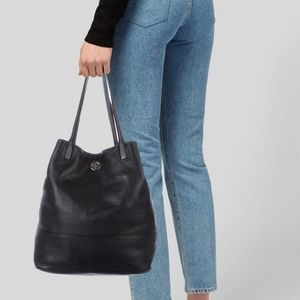 Tory Burch Michelle Pebble Leather Tote